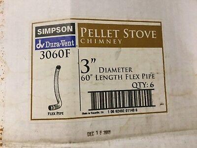 "Duravent Pellet Stove Chimney Flex Pipe 3"" diam. 60"" length"