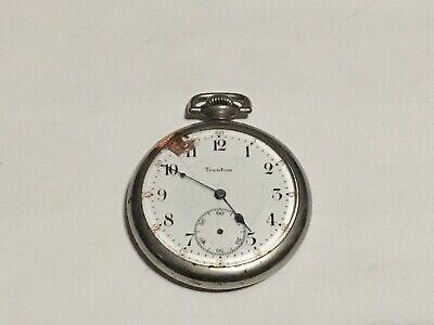 16c - Ingersoll Trenton Railroad Train 15 Jewel Pocket Watch Keystone Case