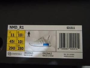 Adidas NMD R1 - White/Cyan Blue - Mens US11