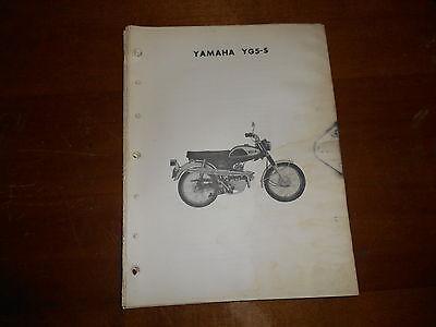 Yamaha Parts Dealer - OEM Yamaha 1969 YG5S Dealer Original Parts List