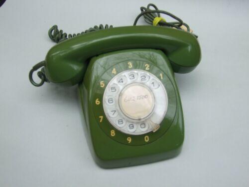 Vintage Green  Retro STC Australia  Rotary Dial Telephones 1970