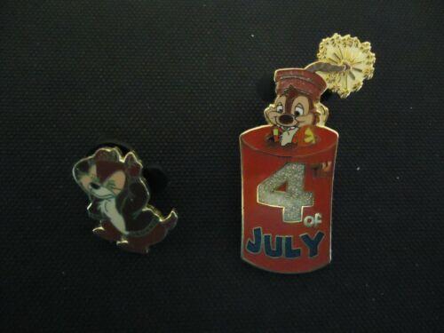 DISNEY DLR DISNEYLAND 4TH OF JULY 2001 CHIP & DALE 2 PIN SET LE 3600