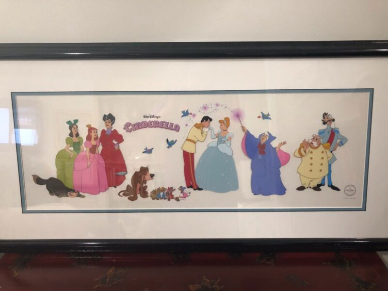 Cinderella Large Sericel Animation Characters COA