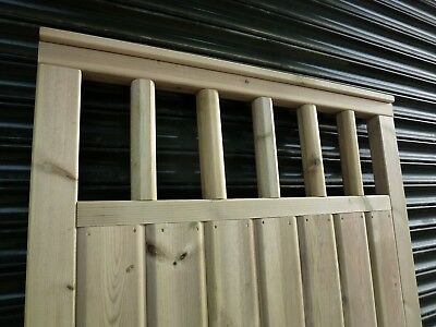 BESPOKE Barrel Board Gate with Spindle detailing  (up to 4ft wide x 6ft high)