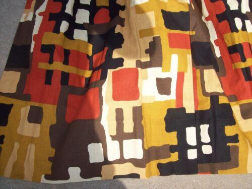 Set of 4 - Vintage MCM Atomic Geometric Print Mid-Century Modern Curtains Panel