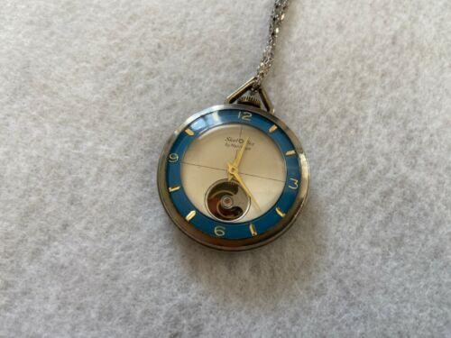 Vintage Swiss Made Heritage Skel Flex Mechanical Wind Up Necklace Pendant Watch