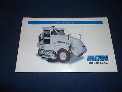 Elgin Pelican Series P Street Sweeper Operator Operation Maintenance Book Manual
