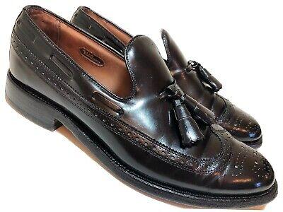 ALLEN EDMONDS Berwick Mens 6.5 D Black Leather Wing Tips Loafers Dress Shoes