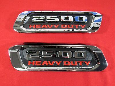 DODGE RAM 2500 Heavy Duty Right&Left Hood Emblem Nameplate DT NEW OEM MOPAR