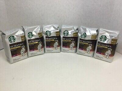 Starbucks Sumatra Dark Roast Ground Coffee, 6 bags, 12oz, 06/2020