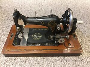Antique Opel Simplex Hand Crank Sewing Machine with Case