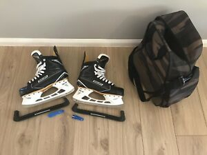 Bauer S160 Ice Skates - Size 10.5 / Euro 44.5 tools, bag, guards