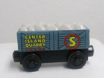 Thomas the Train Wooden Railway Sodor Center Island Quarry BOULDER CAR GUC