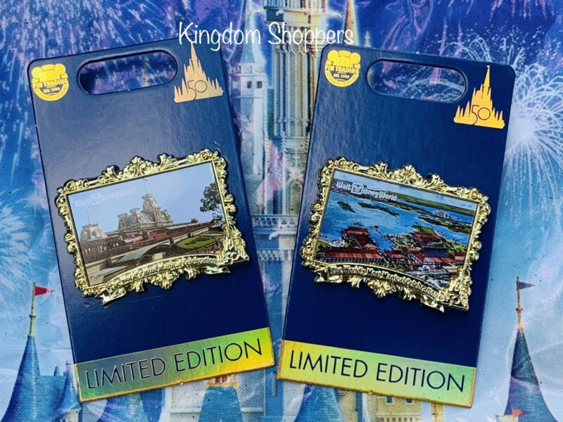2021 Disney World 50th Anniversary Celebration Polynesian Postcard Pin LE 3000