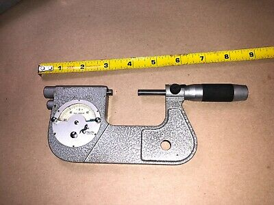 Etalon Dial Indicating Micrometer 1-2 With Case .0001