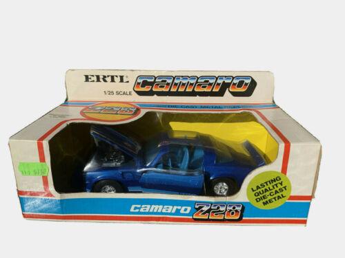 Vintage Ertl 1980 Chevy Camaro Z28 Blue Metallic 1/25 Scale Die Cast Metal Toy