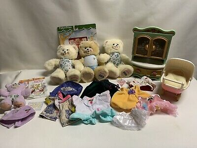 Vintage Fisher Price Briarberry Bears Furniture Clothes Accessories Leaflet Lot