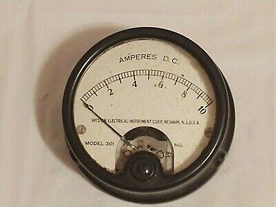 Weston Model 301 Dc Amperes Meter