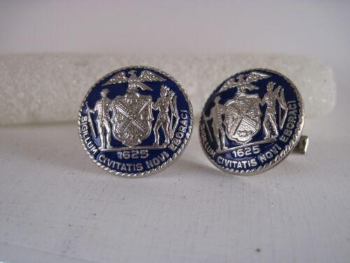 New York City  Seal cloisonne  logo cufflinks