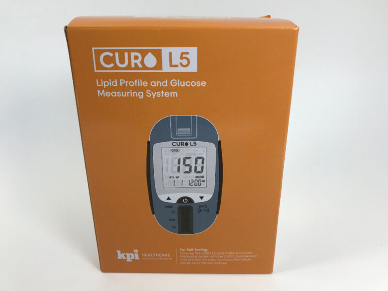 Curo L5 Blood Total Cholesterol Test Digital Meter (Strips NOT INCLUDED)