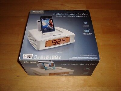 Memorex Mi4019-WHT iPod Docking Station Alarm Clock -