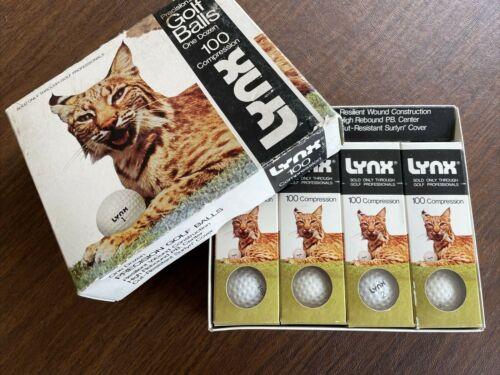 VTG LYNX Golf Balls 1970s NEW NOS 100 Compression NOS Carl Ross ~ RARE