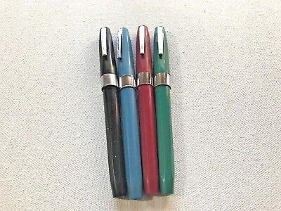 1 Six Sided Sheaffer's Cartridge Fountain Pen Hooded MEDIUM nib You Choose color