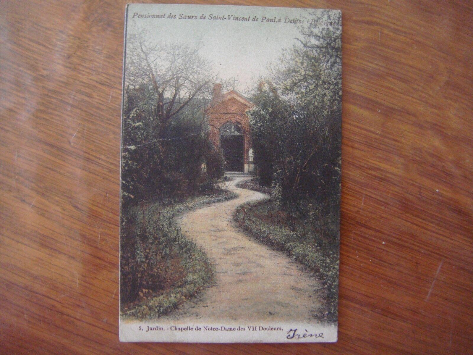 DEINZE - Pensionnat des Soeurs de St Vincent de Paul - Jardin chapelle (colorée)