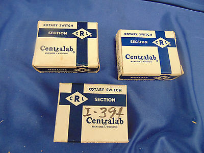 Vtg Centralab Rotary Switch I-394 I-395 I-396 non shorting phenolic repairman