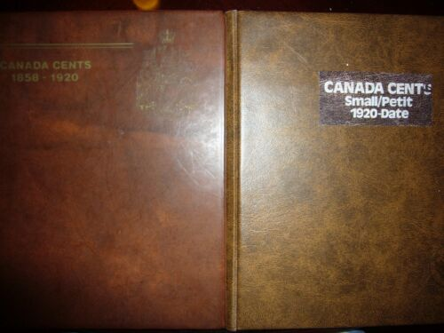 Canada Canadian Large Small Cents in 2 Albums 1859-2012