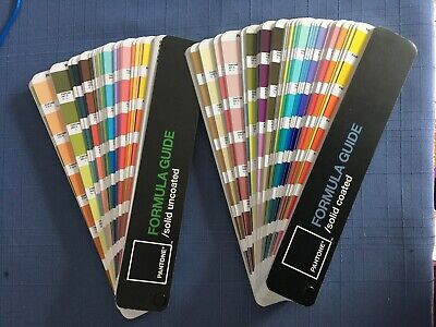 Two Pantone Formula Guides Fandeck Solid Coated Solid Uncoated Used