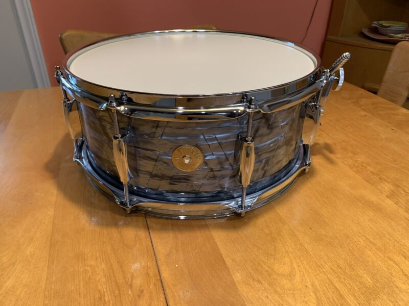 Gretsch Round Badge 14 x 5 1/2 MBP snare micro 8 lug new wrap