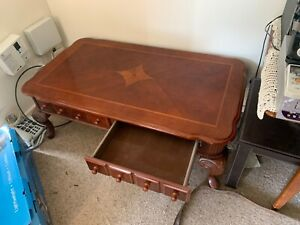 Coffee table and expandable dining table with chairs