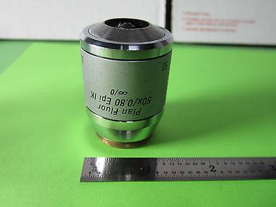 Leica Microscope Objective Nomarski 50x Fluor Infinity Dic Ik Epi Optics Ba9-27