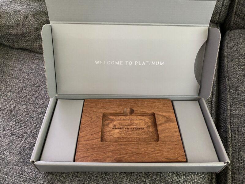 American Express Platinum Wooden Block Welcome Case