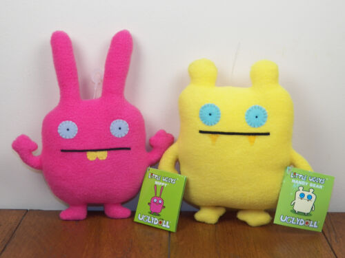 "Uglydolls Wippy AND Nandy Bear 8"" Little Uglys Plush Stuffed Dolls **BRAND NEW**"