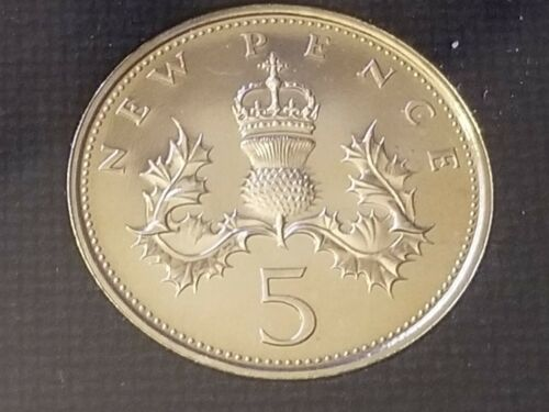 1971 Proof 5 Pence - England, Great Britain