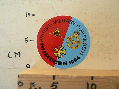 STICKER,DECAL BRITISH MILITARY CONTIGENT NIJMEGEN 1994 ARMY LEGER 4-DAAGSE ? tweedehands  Nederland