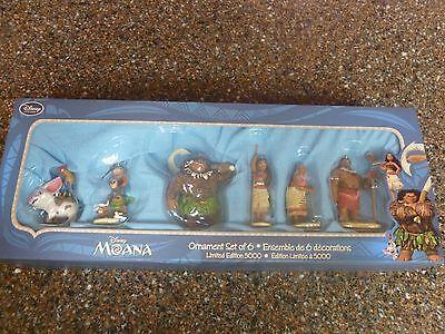 Disney Store Moana Sketchbook Ornament Set 6 - Collectors Limited Edition 5,000