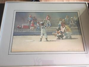 Beautiful Baseball Image framed