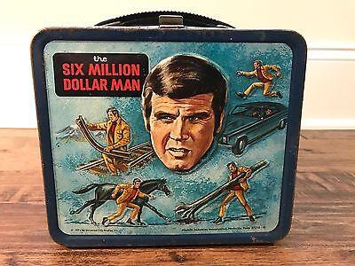 "1974 Vintage (Aladdin) ""THE SIX MILLION DOLLAR MAN"" Metal Lunchbox, RARE!"