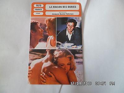 CARTE FICHE CINEMA 1970 LA MAISON DES BORIES Marie Dubois Maurice Garrel