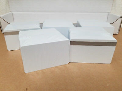100 Pearl UltraCard PVC Cards w/ Silver HiCo MagStripe 2 Track - CR80 .30 Mil