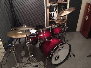 Drum Craft 5 Piece maple kit w Custom A cymbals Bassendean Bassendean Area Preview