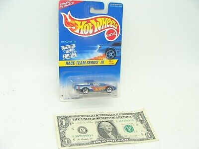 Hot Wheels Blue '80's Corvette - Race Team Series III # 4 - 1997