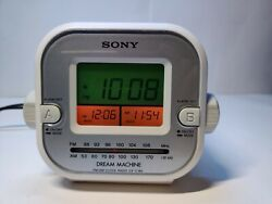 Sony Dream Machine Dual Alarm Clock-Radio ICF-C180 AM/FM Working Great.Nice!