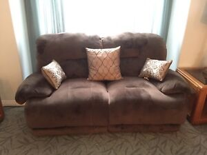 Reclining couch, loveseat and chair set - power recliners