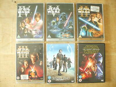 6 DVD JOBLOT OF STAR WARS FILMS