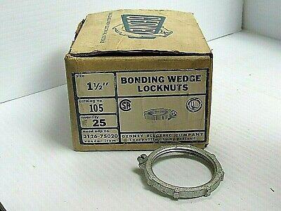 New Lot Of 25 Gedney Bonding Wedge Locknut 105 1-12
