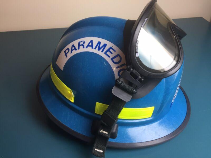 "RARE 01"" Morning Pride RH PLUS USAR Heavy duty Fire Firefighter Helmet w goggles"